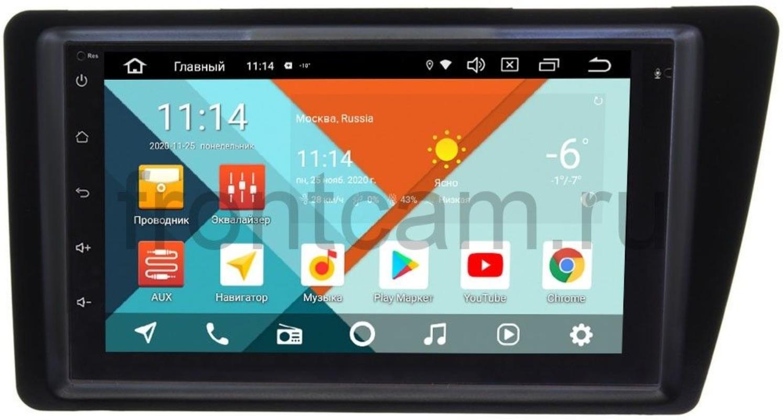 Магнитола в штатное место 2 din Honda Civic VII (левый руль) Wide Media KS7001QR-3/32-RP-HNCV03L-101 на Android 10 (DSP CarPlay 4G-SIM) (+ Камера заднего вида в подарок!)