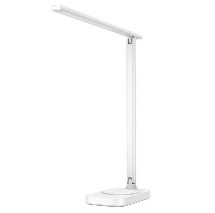 Настольная лампа Baseus Lett с беспроводной зарядкой Wireless Charging folding Desk Lamp White