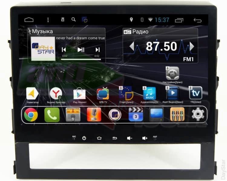 Штатная магнитола DayStar DS-8002HB Toyota LC 200 2015+ - Android 8.1.0  (8 ядер, 2Gb ОЗУ, 32Gb памяти) + 3G модем (+ камера заднего вида и 3G модем)DayStar<br>Штатное головное устройство для автомобиля Toyota LC 200 2015+на операционной системе Android 8.1.0. Матрица 10.2 дюйма HB качества высокой яркости 1024*600. Емкостной морозостойкий мультитач. Центральный процессор OctaCore T8 (8 ядер) Cortex A7 @ 2 GHz, оперативная память ОЗУ 2GB, встроенная память 32GB.