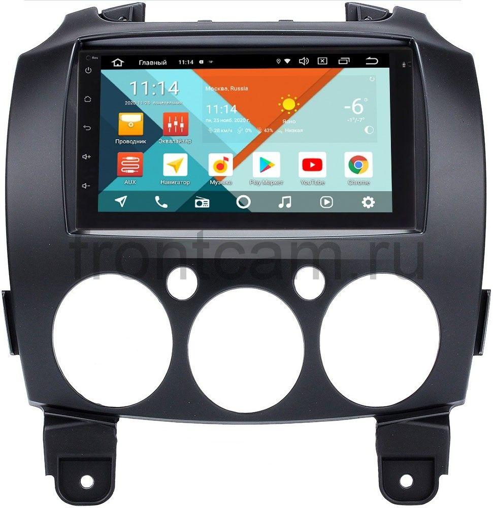 Магнитола в штатное место 2 din Mazda 2 II (DE), Demio III (DE) 2007-2014 Wide Media MT7001PK-2/16-RP-MZ2-149 на Android 9.1 (DSP 3G-SIM) (+ Камера заднего вида в подарок!)