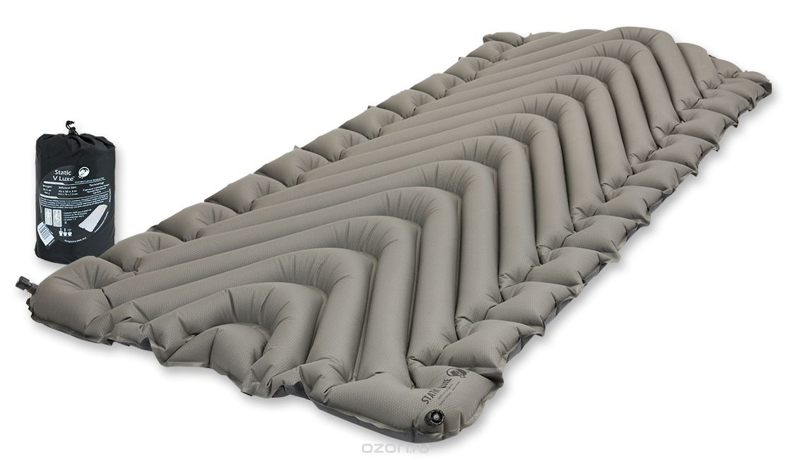 Надувной коврик Klymit Static V Luxe pad Grey, серый (06VLSt01D)