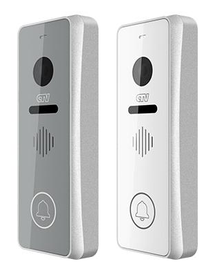 Вызывная панель для видеодомофонов CTV-D4001AHD (серебристый) (+ Салфетки из микрофибры в подарок)