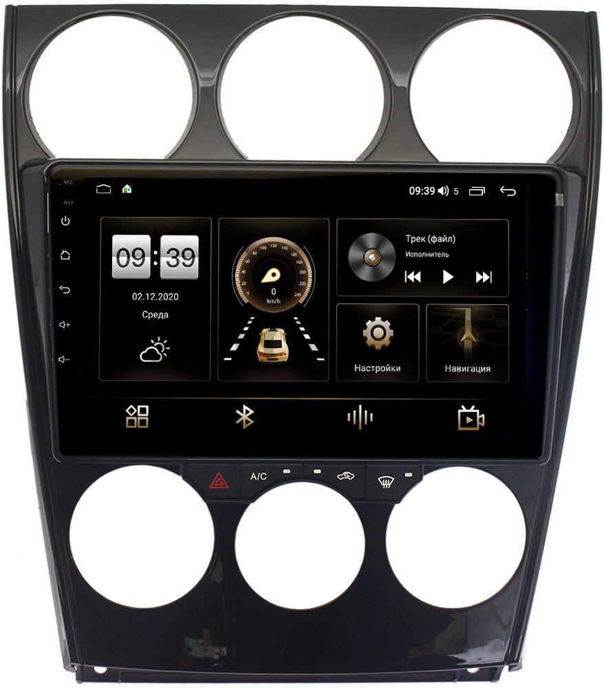 Штатная магнитола Mazda 6 (GG) 2002-2007 LeTrun 4196-9160 на Android 10 (6/128, DSP, QLed) С оптическим выходом (+ Камера заднего вида в подарок!)