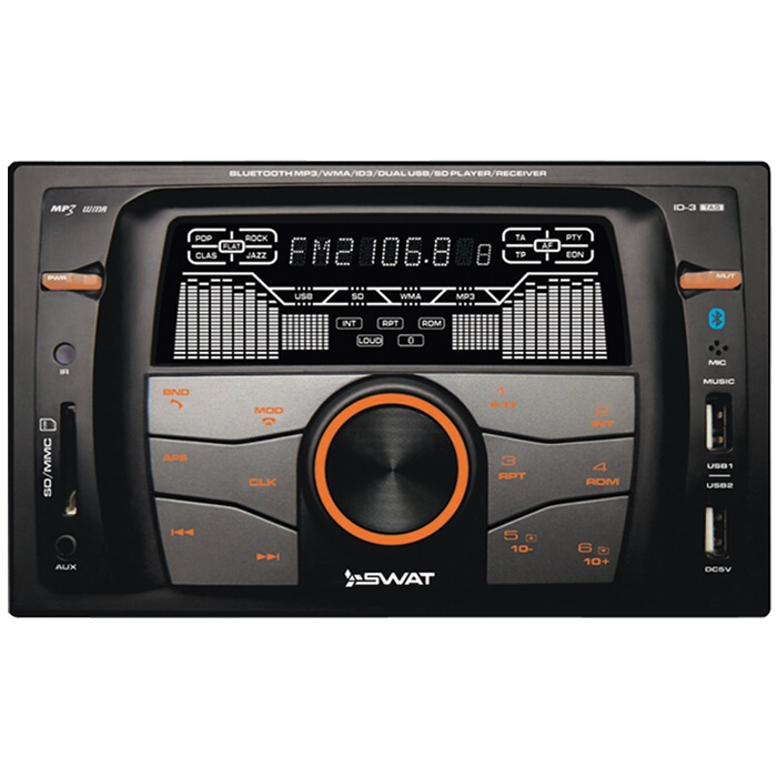 Магнитола SWAT WX-216UBA 7 inch 2 din car audio mp5 player universal hd bluetooth radio usb tf sd card fm aux input rear view camera input interface