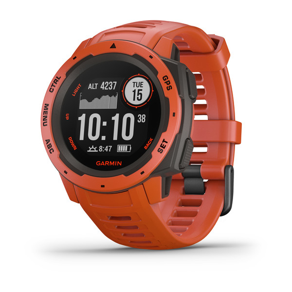 Прочные GPS-часы Garmin Instinct Flame Red портативный gps навигатор garmin oregon 750t карты топо 6 xx
