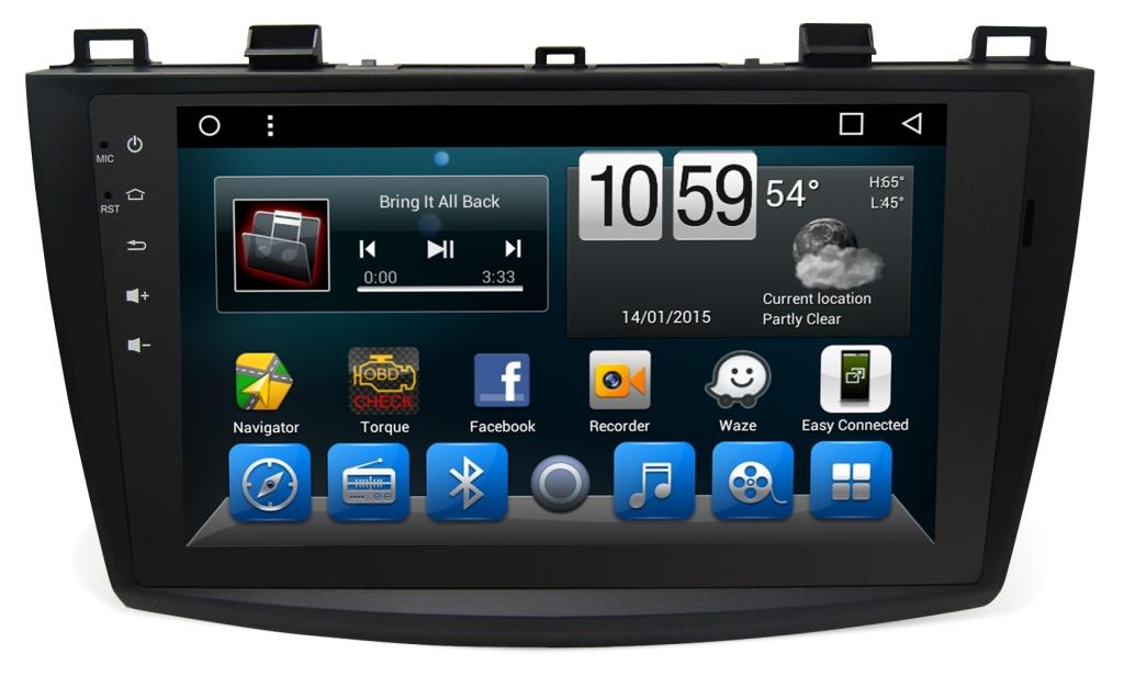 Штатная магнитола CARMEDIA KR-9066-T8 для Mazda 3 2003-2009 на Android 8.1 k1 android 5 1 os smart watch phone mtk6580 512mb 8gb support wifi sim card bluetooth gps smartwatch for ios android os