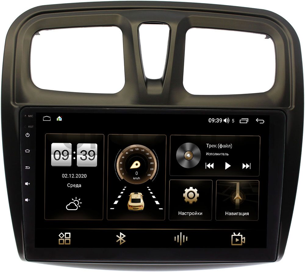 Штатная магнитола Renault Logan II 2013-2020, Sandero II 2013-2020 LeTrun 4165-1090 на Android 10 (4G-SIM, 3/32, DSP, QLed) (+ Камера заднего вида в подарок!)