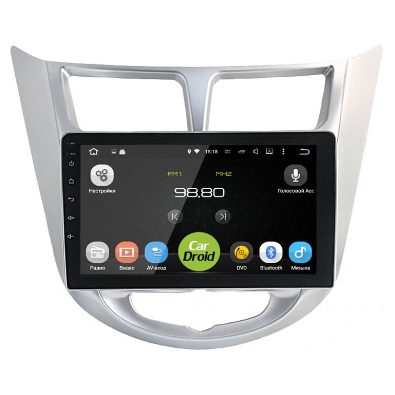 Штатная магнитола Roximo CarDroid RD-2003F для Hyundai Solaris I 2011-2017 (Android 8.0) (+ Камера заднего вида в подарок!)