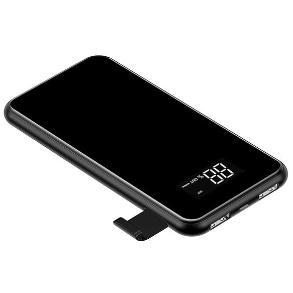 лучшая цена Внешний аккумулятор 8000мАч с беспроводной зарядкой Baseus Full Screen Bracket - Черный (PPALL-EX01)