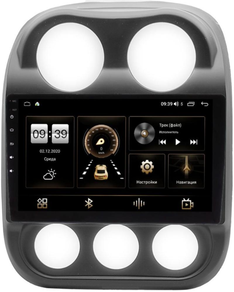 Штатная магнитола Jeep Compass I, Liberty (Patriot) 2011-2016 LeTrun 3799-10-810 на Android 10 (4/64, DSP, QLed) (+ Камера заднего вида в подарок!)