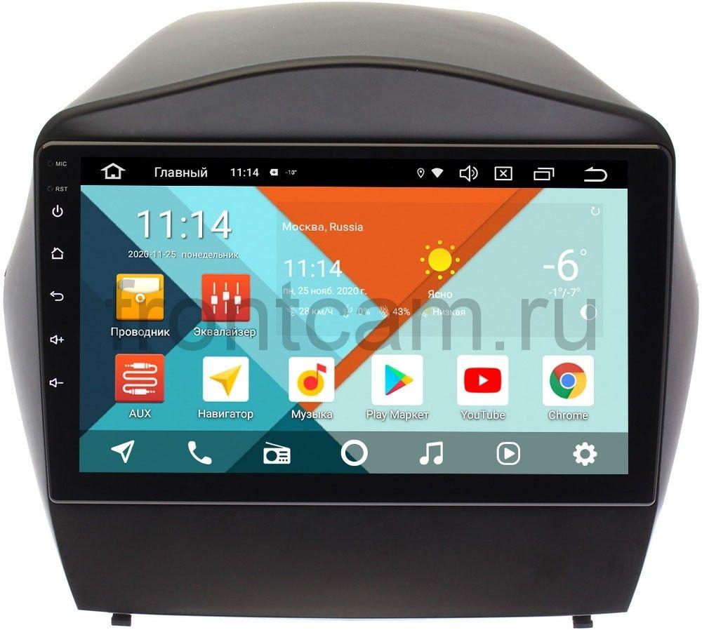 Штатная магнитола Hyundai ix35, Tucson II 2011-2015 (для авто без камеры) Wide Media KS9088QR-3/32 DSP CarPlay 4G-SIM на Android 10 (+ Камера заднего вида в подарок!)