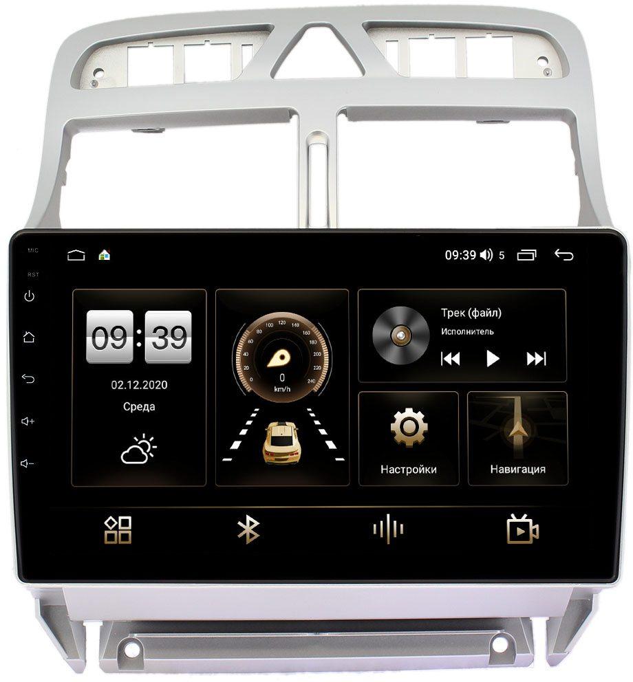 Штатная магнитола Peugeot 307 I 2001-2008 (тип 2) LeTrun 4196-9188 на Android 10 (6/128, DSP, QLed) С оптическим выходом (+ Камера заднего вида в подарок!)