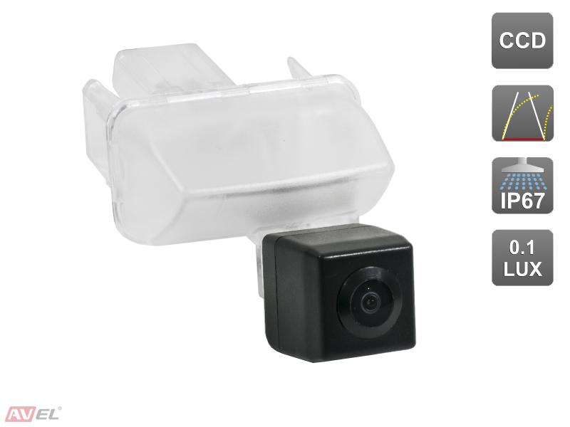 Штатная камера заднего вида c динамической разметкой Avis AVS326CPR (#090) для TOYOTA CAMRY VII (2012-...) ccd штатная камера заднего вида с динамической разметкой avis electronics avs326cpr 087 для toyota avensis corolla e12 2001 2006