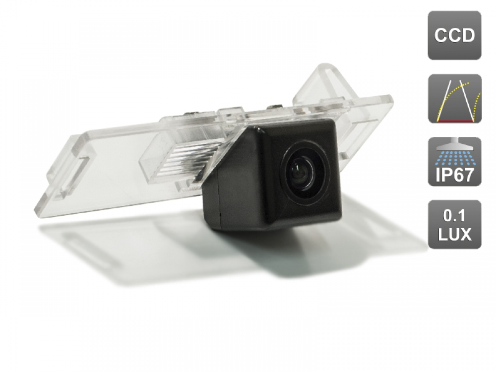 CCD штатная камера заднего вида с динамической разметкой AVIS Electronics AVS326CPR (#010) для CADILLAC CTS II/ SRX CHEVROLET AVEO II (2012-...) / CRUZE HATCHBACK
