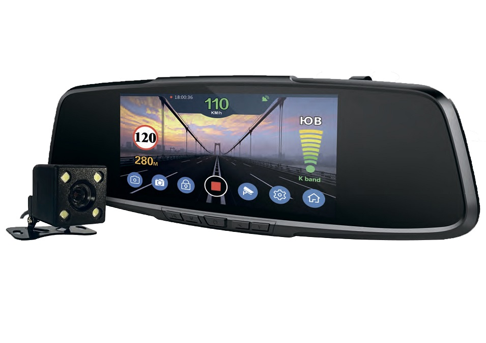 все цены на Playme VEGA видеорегистратор зеркало с радар-детектором онлайн