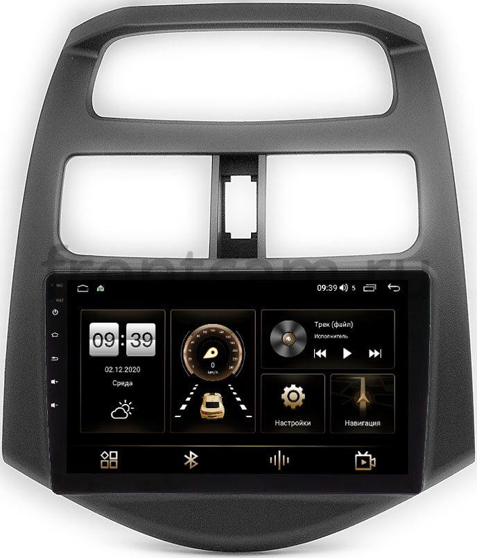 Штатная магнитола Chevrolet Spark III 2009-2016 (матовая) LeTrun 4166-9-180 на Android 10 (4G-SIM, 3/32, DSP, QLed) (+ Камера заднего вида в подарок!)