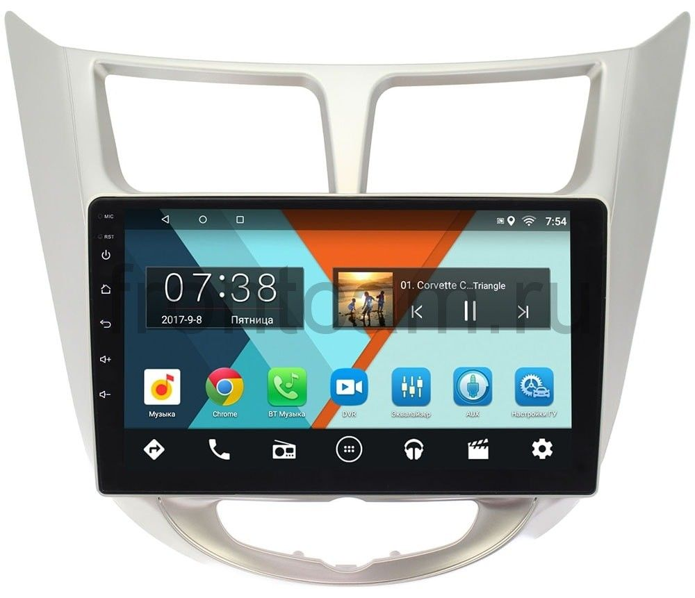 Штатная магнитола Hyundai Solaris I 2011-2017 Wide Media MT9027MF-2/16 на Android 7.1.1