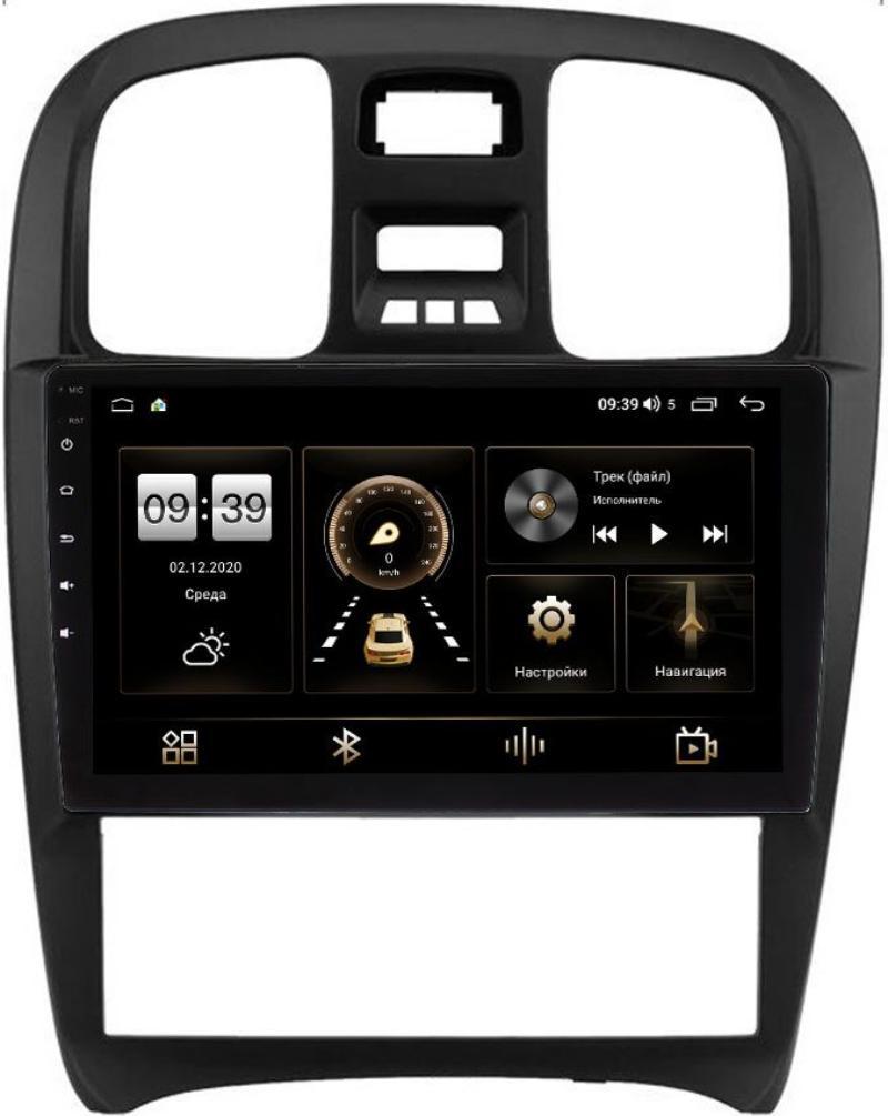 Штатная магнитола Hyundai Sonata IV (EF) 2001-2012 LeTrun 3792-9-268 на Android 10 (4/64, DSP, QLed) С оптическим выходом (+ Камера заднего вида в подарок!)