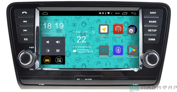Штатная магнитола Parafar 4G/LTE для Skoda Octavia 3, A7 с DVD на Android 7.1.1 (PF993D) lot of 10pcs unlocked aircard ac790s 4g mobile hotspot sierra wireless lte cat6 300m portable wifi router plus 49dbi 4g antenna