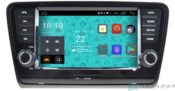 Штатная магнитола Parafar 4G/LTE для Skoda Octavia 3, A7 с DVD на Android 7.1.1 (PF993D)