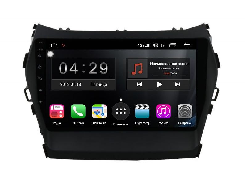 Штатная магнитола FarCar s300-SIM 4G для Hyundai Santa Fe 2012+ на Android (RG209R) (+ Камера заднего вида в подарок!)