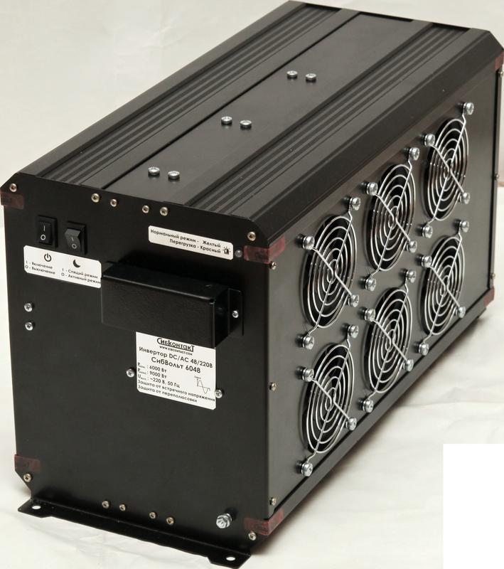 Инвертор DC-AC, 48В/6000Вт СибВольт 6048 инвертор преобразователь напряжения энергия пн 3000