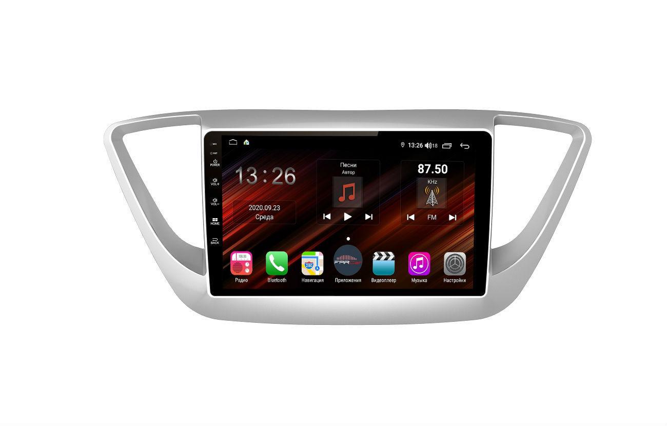 Штатная магнитола FarCar s400 Super HD для Hyundai Solaris на Android (XH766R) (+ Камера заднего вида в подарок!)