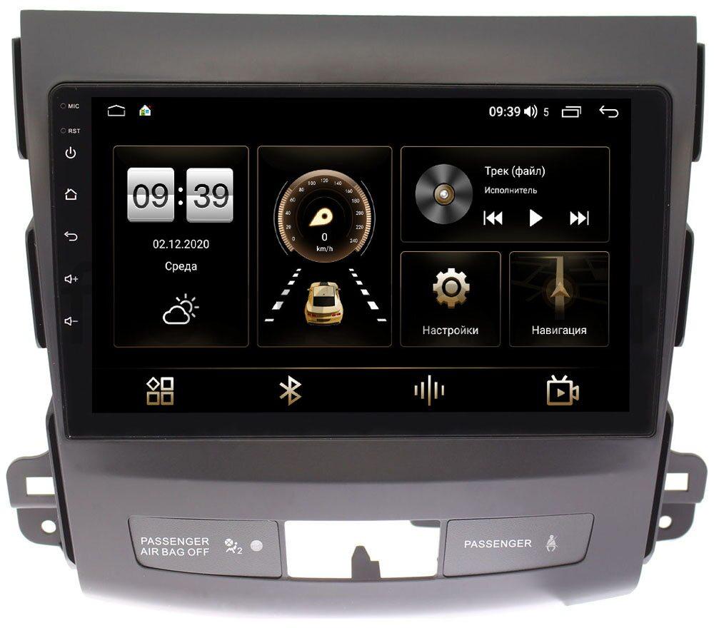 Штатная магнитола Mitsubishi Outlander II (XL) 2006-2012 LeTrun 3792-9058 для авто c Rockford на Android 10 (4/64, DSP, QLed) С оптическим выходом (+ Камера заднего вида в подарок!)