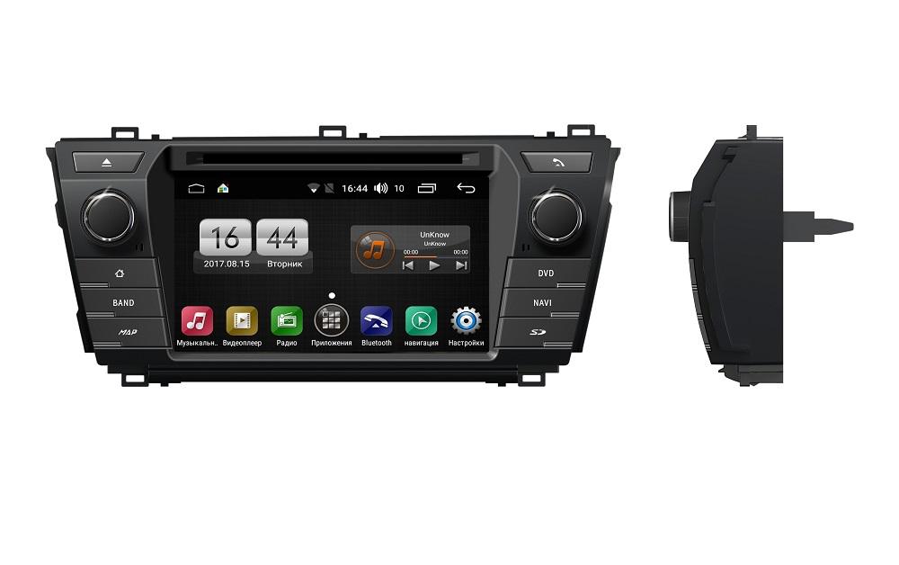 Штатная магнитола FarCar s170 для Toyota Corolla 2013+ на Android (L307) штатная магнитола farcar s170 для toyota prado 150 на android l531