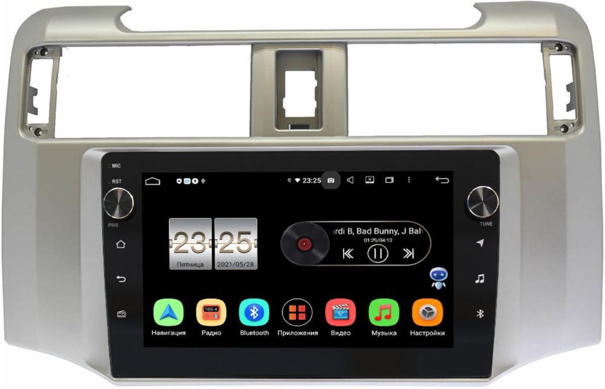 Штатная магнитола LeTrun BPX409-9380 для Toyota 4Runner V 2009-2021 на Android 10 (4/32, DSP, IPS, с голосовым ассистентом, с крутилками) (+ Камера заднего вида в подарок!)