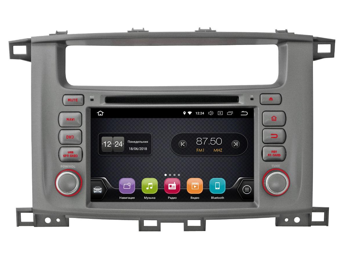 Штатная магнитола InCar TSA-2242 для Toyota LC 100 (Android 8.0) штатная магнитола incar tsa 2243 для toyota camry 2014 2015 android 8 0