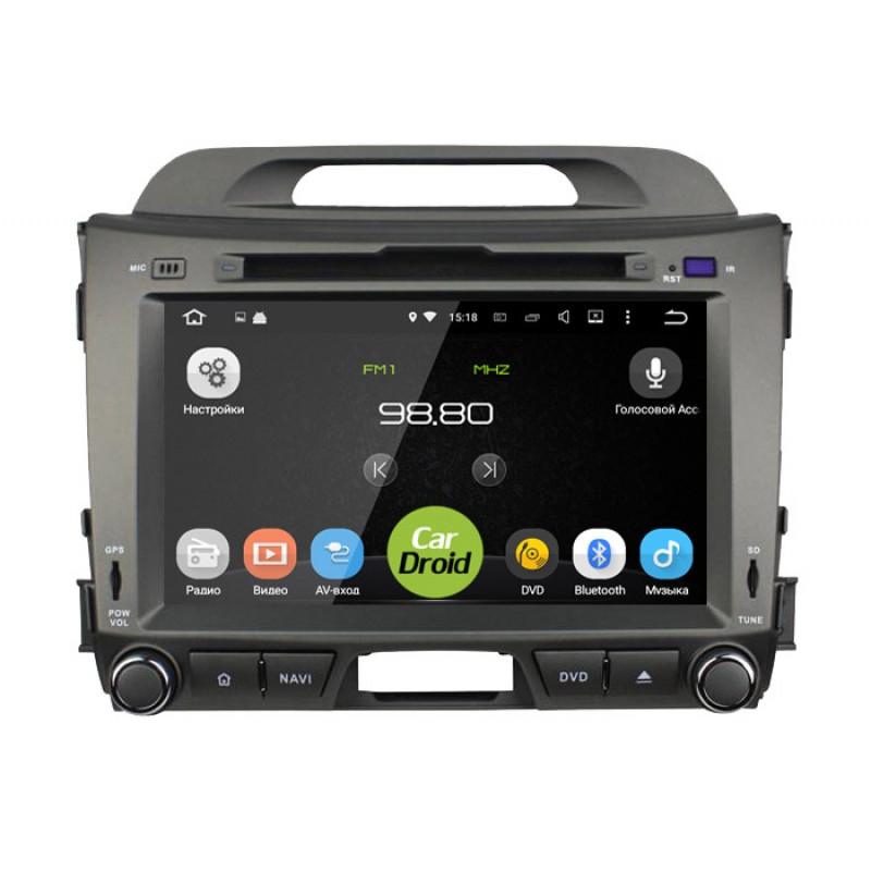 Фото - Штатная магнитола Roximo CarDroid RD-2311D для KIA Sportage 3 (Android 9.0) DSP (+ Камера заднего вида в подарок!) штатная магнитола cardroid rd 2310d m18 для kia optima 2018 android 8 0 dsp камера заднего вида в подарок