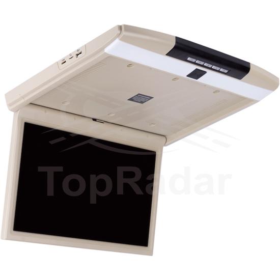 Фото - Автомобильный потолочный монитор Full HD 15.6 ERGO ER15AND на ANDROID (бежевый) (+ Беспроводные наушники в подарок!) шторы римские 120х160 см цвет бежевый