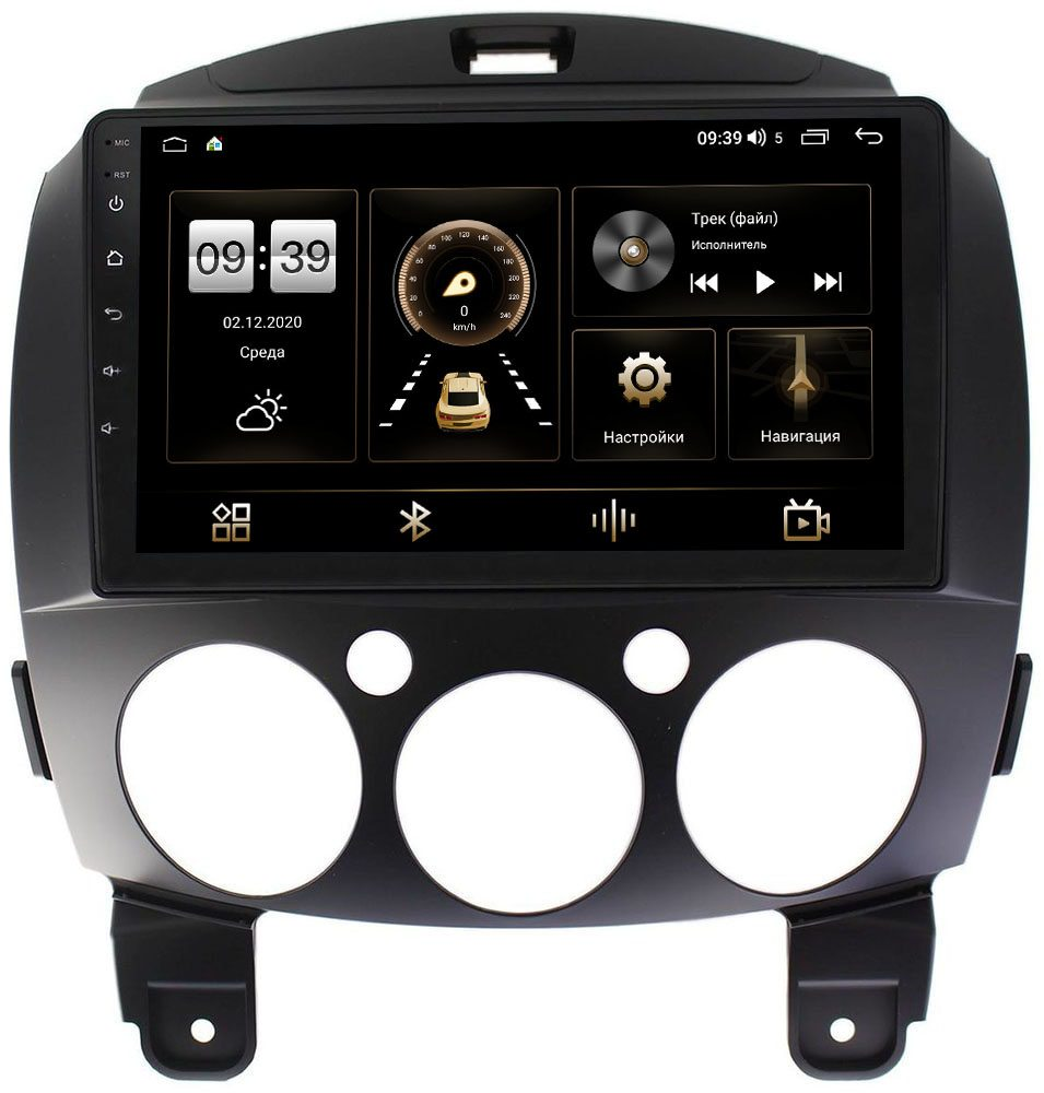 Штатная магнитола Mazda 2 II 2007-2014 LeTrun 4166-9031 на Android 10 (4G-SIM, 3/32, DSP, QLed) (+ Камера заднего вида в подарок!)