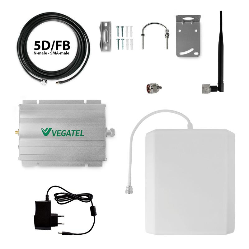 Усилитель сотовой связи VEGATEL VT-900E/1800-kit усилитель антенный vegatel vta20 1800
