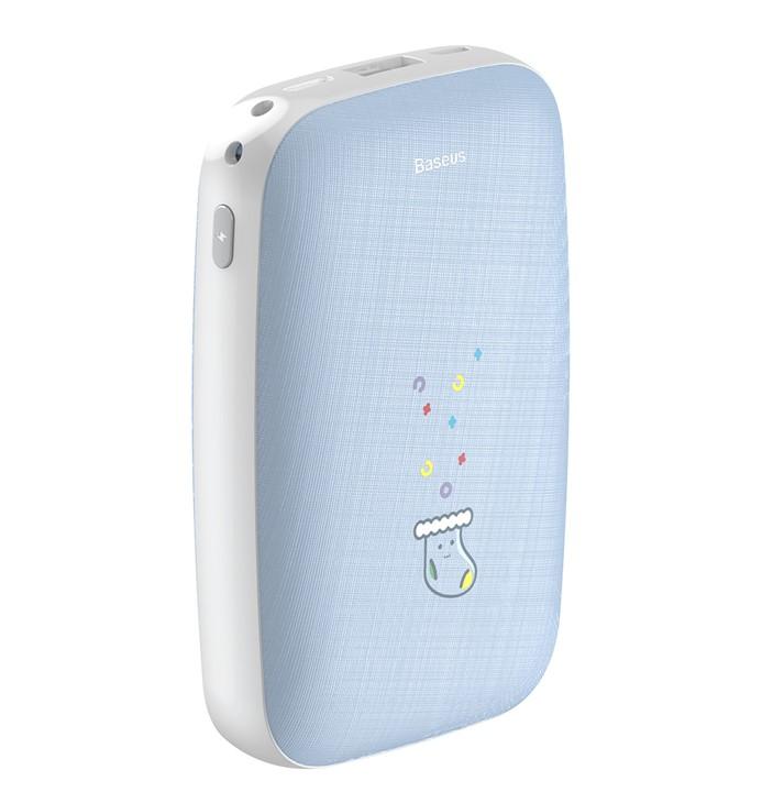 Портативное зарядное устройство с обогревом Baseus Mini Q Hand Warmer Power Bank 10000mAh Голубой