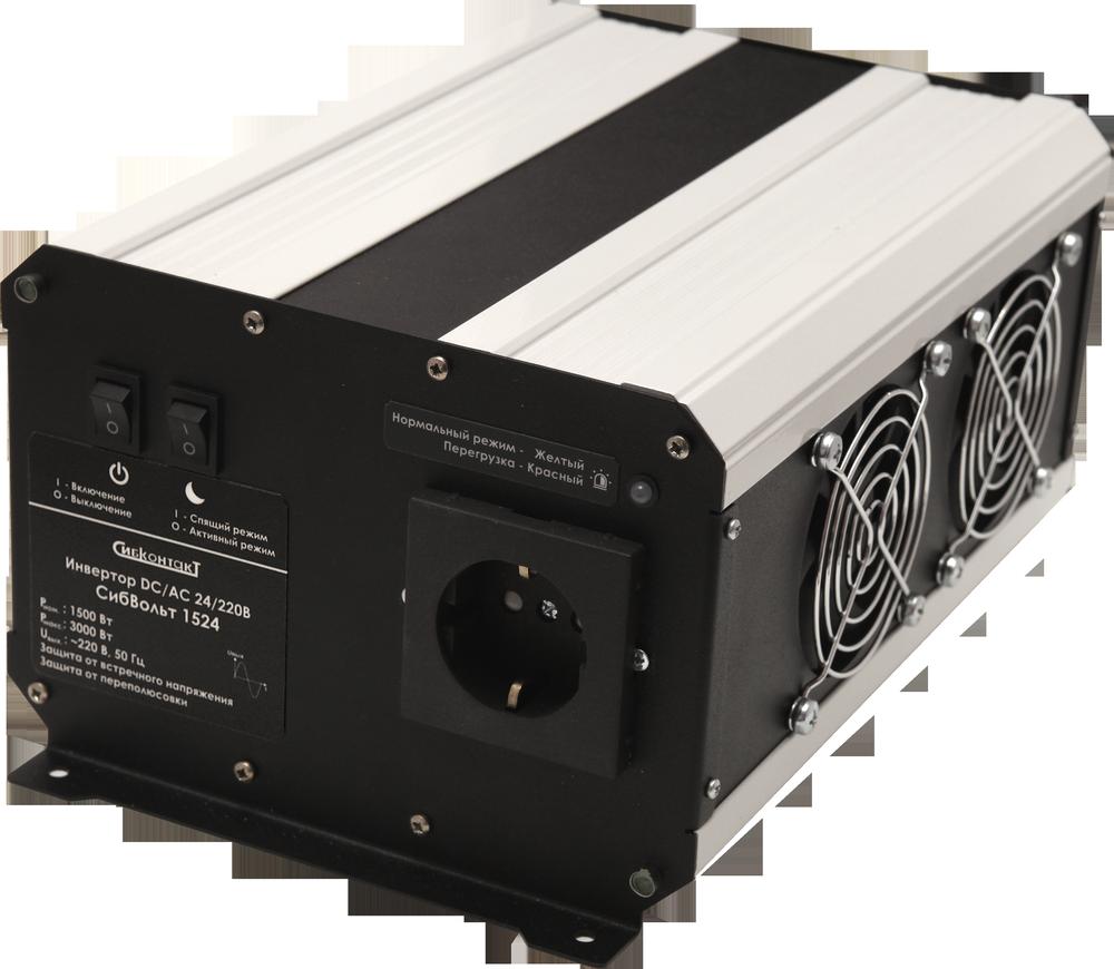 Инвертор DC-AC, 24В/1500Вт СибВольт 1524 клемма аккумулятора к т 12 24в до 600а vettler