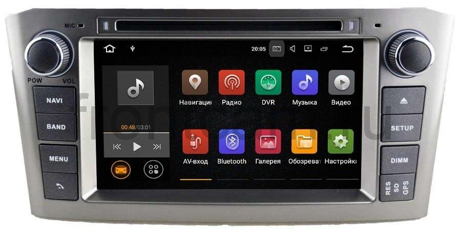 Штатная магнитола Toyota Avensis II 2003-2008 LeTrun 2058 на Android 7.1.1