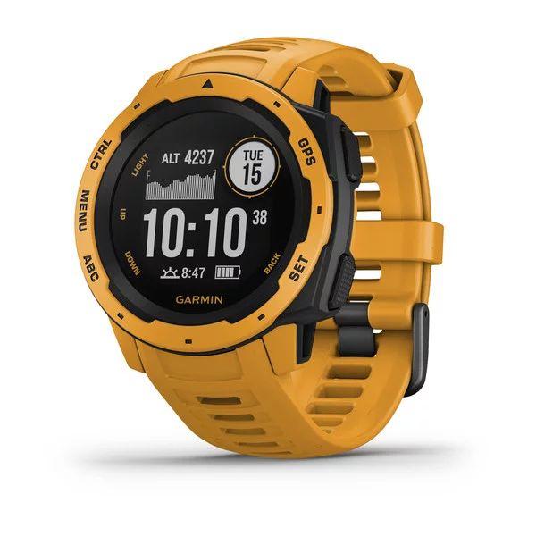 Прочные GPS-часы Garmin Instinct Sunburst цены gps навигаторы garmin