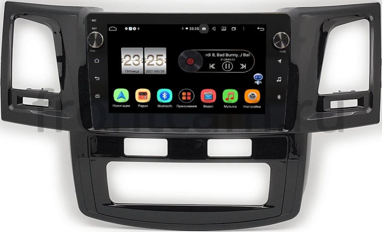 Штатная магнитола Toyota Hilux VII 2011-2015, Fortuner I 2005-2013 (с климат-контролем) LeTrun BPX409-9413 на Android 10 (4/32, DSP, IPS, с голосовым ассистентом, с крутилками) (+ Камера заднего вида в подарок!)