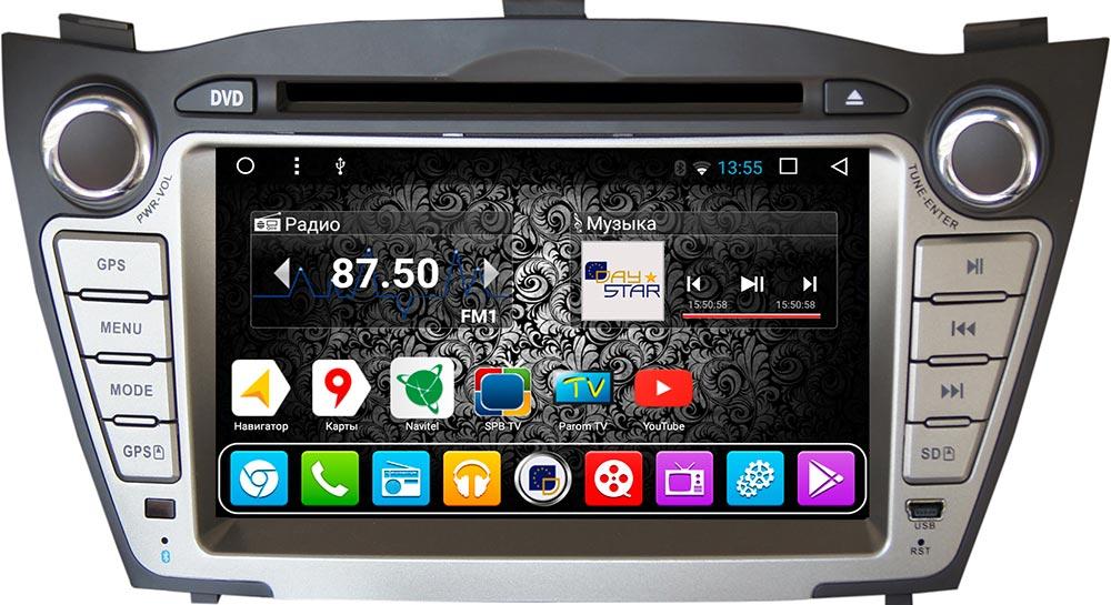 Штатное головное устройство DayStar DS-7051HD Android для HYUNDAI iX35 (8 ядер, 2Gb ОЗУ, 32Gb памяти) daystar ds 7112hd