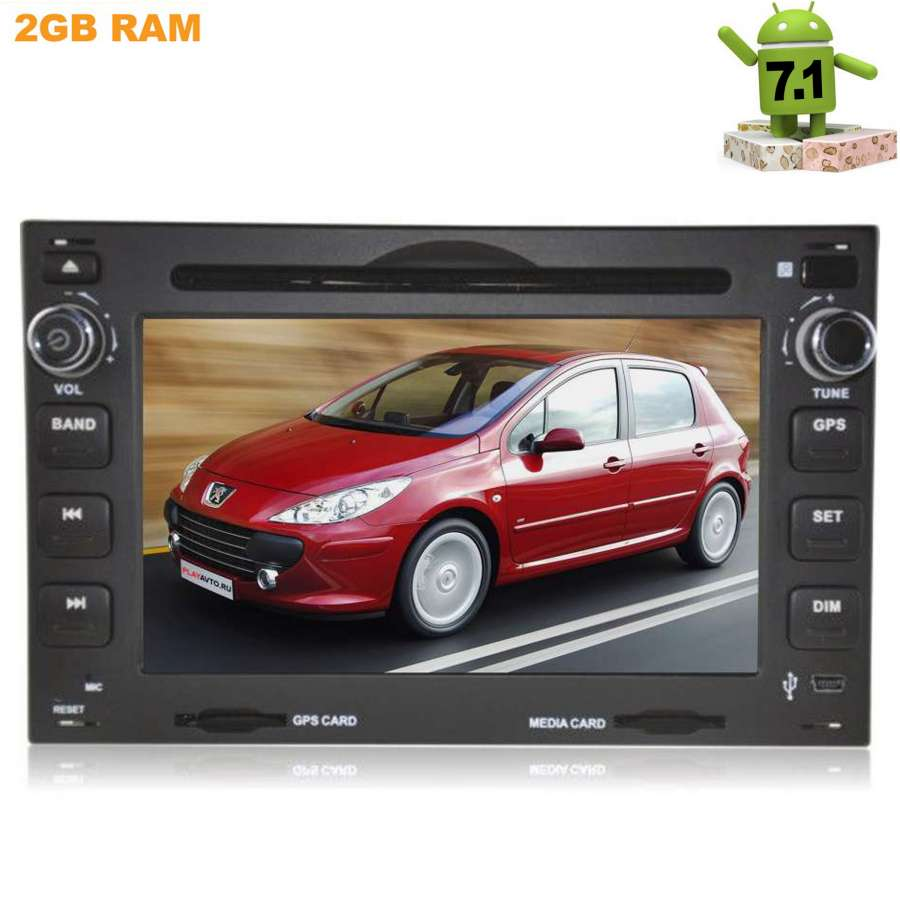 Штатная магнитола Peugeot 3008, 5008, Boxer, 207, 307 LeTrun 2115 на Android 7.1.1 custom fit car trunk mat for peugeot 206 207 2008 301 307 308 308sw 3008 408 4008 508 5008 tail box floor tray liner