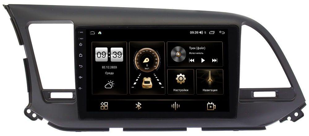 Штатная магнитола Hyundai Elantra VI (AD) 2015-2019 LeTrun 3792-9025 для авто без камеры на Android 10 (4/64, DSP, QLed) С оптическим выходом (+ Камера заднего вида в подарок!)
