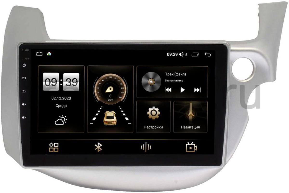 Штатная магнитола Honda Fit II 2008-2014 (светло-серая) LeTrun 4165-10-671 на Android 10 (4G-SIM, 3/32, DSP, QLed) (+ Камера заднего вида в подарок!)