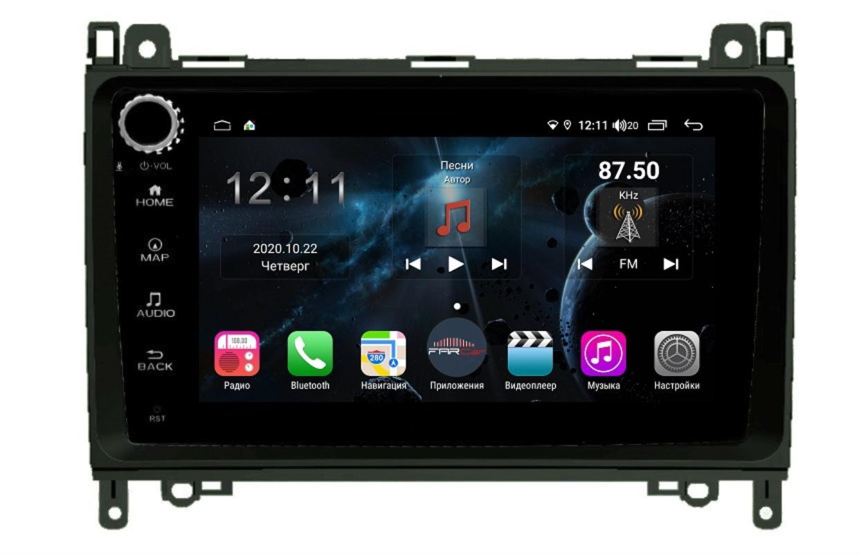 Штатная магнитола FarCar s400 для Mercedes-Benz A ,B, Sprinter, Viano ,VW Crafter на Android (H068RB) (+ Камера заднего вида в подарок!)