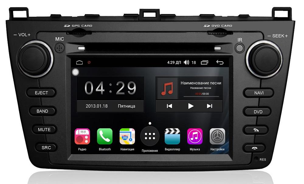 Штатная магнитола FarCar s300 для Mazda 6 (2007-2012) на Android (RL012) (+ Двухканальные наушники в подарок!)