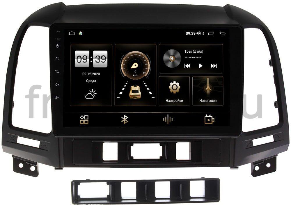 Штатная магнитола Hyundai Santa Fe II 2005-2012 LeTrun 3792-9052 на Android 10 (4/64, DSP, QLed) С оптическим выходом (+ Камера заднего вида в подарок!)