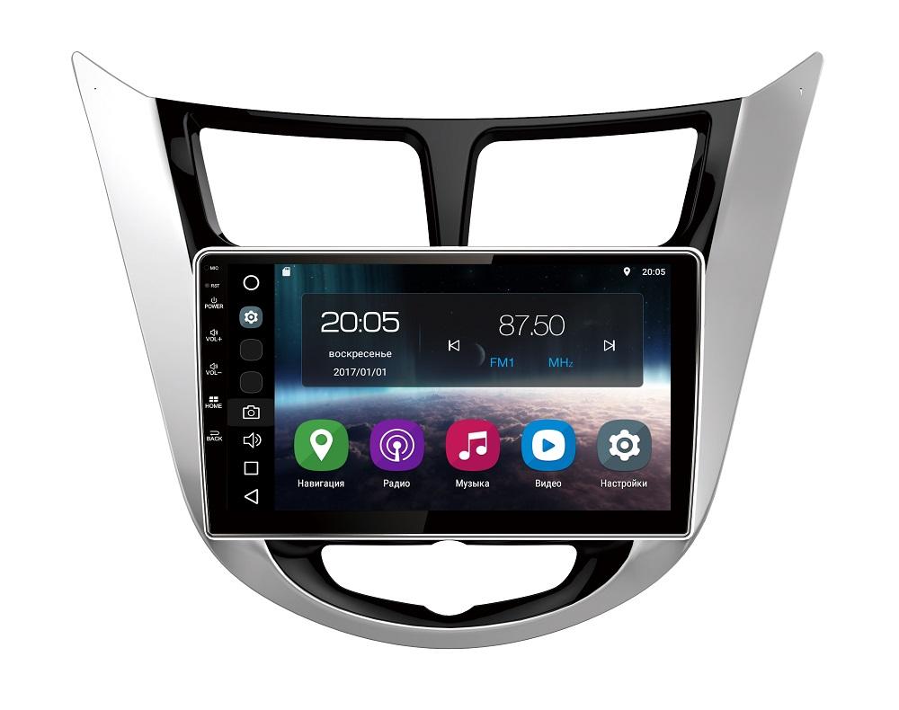 Штатная магнитола FarCar s200 для Hyundai Solaris на Android (V067R-DSP) farcar s130 hyundai solaris 2010 android r067