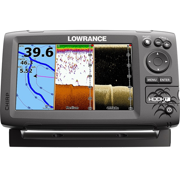 Lowrance Hook-7 Mid/High/DownScan lowrance elite 5ti mid high downscan