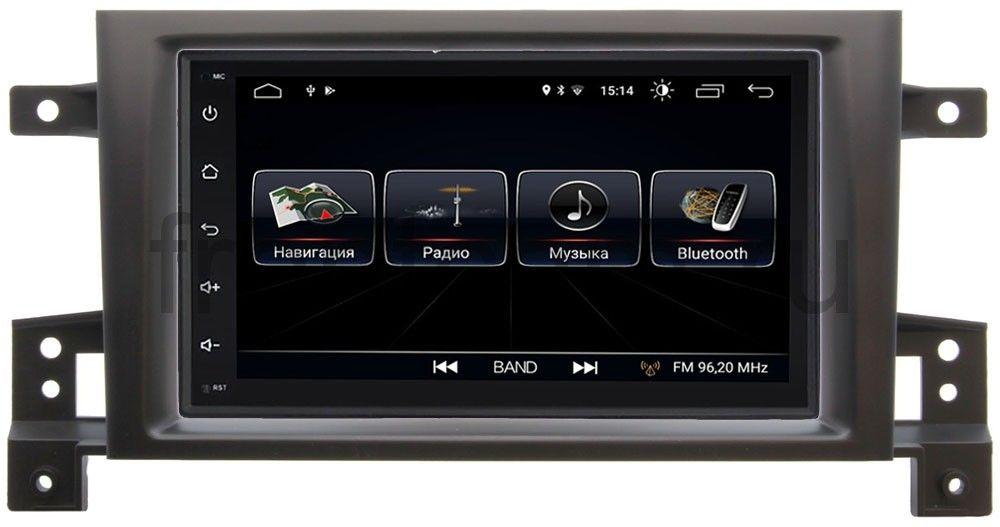 Штатная магнитола LeTrun 2159-RP-SZES3d-14 для Suzuki Grand Vitara III 2005-2015 Android 8.0.1 MTK-L автомобильный dvd плеер bway 7 dvd suzuki grand vitara gps bluetooth ubs sd 8